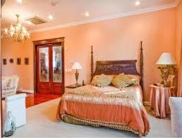 warm peach classic bedroom design ideas