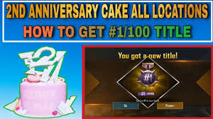 2nd Anniversary Cake All Locations in ...