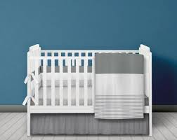 grey and white baby bedding set