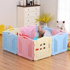 8 Panels Fashion Large Playing Area Folding Baby Playpen Baby Play Fen Xingjewelry