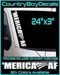 Merica Decal Truck Bed Vinyl Sticker Fits Ford Toyota Jeep Usa Flag Ps25
