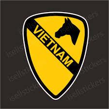 1st Cavalry Division Vietnam Army Bumper Sticker Window Decal