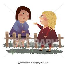 Drawings Neighbors Across The Fence Stock Illustration Gg66452980 Gograph