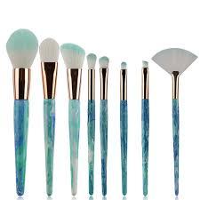 marble jade makeup brush set brush