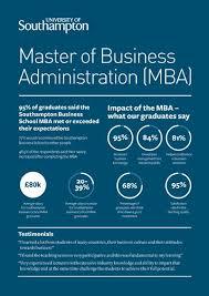 mba degree southton business