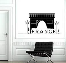 Amazon Com Wall Decal Paris France Classic French Building Vinyl Decal Sticker Hds3150 Home Kitchen