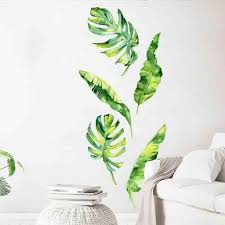 Summer Tropical Green Plants Leaves Wall Sticker Vinyl Decals Home Decorations Muurstickers Voor Kinderen Kamers Decals Decal Wall Stickers Decal Walls From Supper007 1 19 Dhgate Com