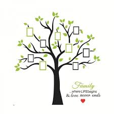 Large Family Photo Picture Frame Tree Wall Decal With Quote Vinyl Wall Art Sticker Diy Wall Decor For Living Room Bedroom Wallsymbol Com