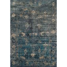 medium teal and charcoal gray area rug