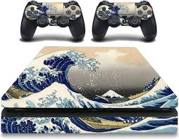 Vwaq The Great Wave Off Kanagawa Decal Skins Ps4 Slim Cover Skin Psg