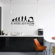 Evolution Of Diving Wall Sticker Vinyl Decal Decors Art Diver Dive Pool Swim The Clothing Shed