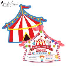 Suministros Para Invitaciones Tematicas De Casa De Circo