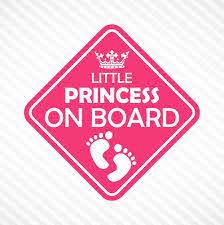 Amazon Com Little Princess On Board Vinyl Decal Bumper Sticker Baby Girl Sticker Car Truck Van Window Sticker Self Adhesive Vinyl Car Sticker Handmade