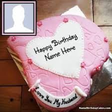 r tic birthday cake for husband and photo