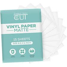 Amazon Com Printable Vinyl Sticker Paper Matte For Inkjet Laser Printer 15 Sheets White Decal Paper Tear Scratch Resistant Quick Ink Dry Cricut Sticker Paper For Making Labels And Crafts