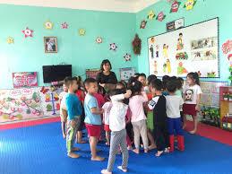 Các bé lớp 5 tuổi A3 với hoạt động góc.