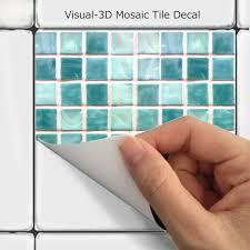 Wall Tile Decals Vinyl Sticker Waterproof Tile Or Wallpaper For Kitchen Bath Mosaic Ms011 Tile Decals Vinyl Sticker Wall Tiles