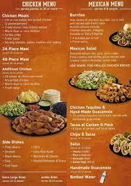 el pollo loco menu s meet