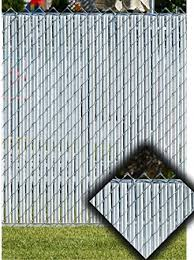 White Privacy Fence Slats For 6 Chain Link Garden Gates Amazon Com