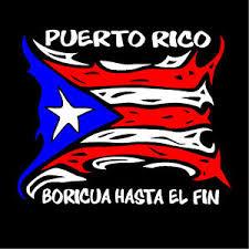 Puerto Rico Car Decal Sticker Boricua Hasta El Fin With Puerto Rican Flag 76 Ebay