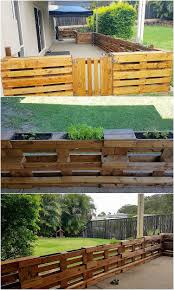 Pallet Fence With Planters Pallet Wood Projects