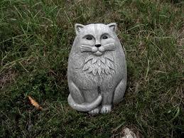 cat statue large concrete garden cats