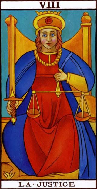 Resultado de imagem para a justiça tarot
