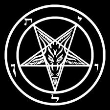 Buy 4x4 Inch Pentagram Sticker Baphomet Demonic Devil Dragon Evil Goat Skull Goat S Head Gothic Metal Occult Punk Satan Satanic Skeleton Voodoo Wicca Witchcraft Leviathan Cross 666 Inverted Demon With Ubuy