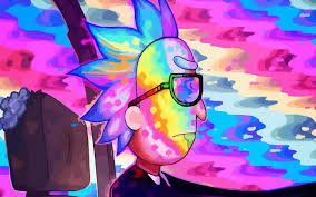 colorful wallpaper rick and morty