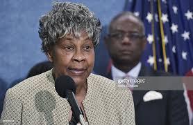 Civil rights activist Myrna Jackson speaks during a press ...