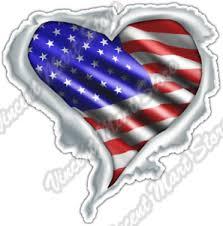 Usa Heart Flag Love United States Of America Car Bumper Vinyl Sticker Decal 4 6 Ebay