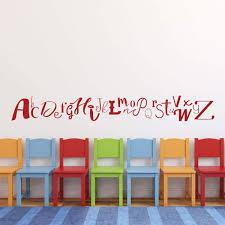 Creative Abc Letters Wall Decals Alphabet Kids Playroom Vinyl Decor Customvinyldecor Com