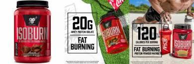 bsn isoburn lean whey protein powder