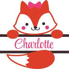 Cute Fox Foxes Animal Bow Ribbon Customized Wall Decal Custom Vinyl Wall Art Personalized Name Baby Girls Boys Kids Bedroom Wall Decal Room Decor Wall Stickers Decoration Size 40x40