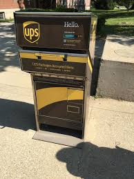 A UPS drop off for packages. I have ...