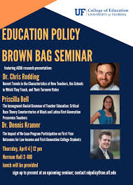 Education Policy Brown Bag Seminar with Dr. Chris Redding, Priscilla Bell,  & Dr. Dennis Kramer – Student Services