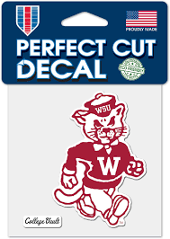 Amazon Com Wincraft Washington State Cougars Wsu College Vault C4 4 X4 Perfect Cut Die Cut Decal Sports Outdoors