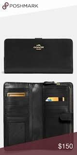 coach skinny wallet with images