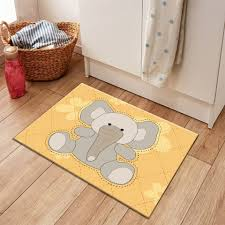 Kids Cartoon Animals Elephant Rug And Carpet For Baby Home Living Room Crystal Velvet Cushion Bedroom Kitchen Floor Door Mats Mat Aliexpress