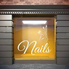 Amazon Com Wall Window Decal Sticker Nail Salon Nails Nail Polish Manicure Pedicure Beauty Salon 1283t Baby