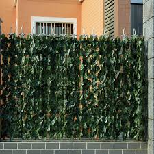 China Leaf Green Fence Outdoor Hedges Walls Mat Artificial Hedge China Plastic Artificial Fence And Artificial Plant Price
