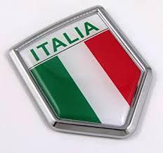 Amazon Com Car Chrome Decals Cbshd101a Italia Italy Italian Flag Car Chrome Emblem Decal 3d Sticker Automotive