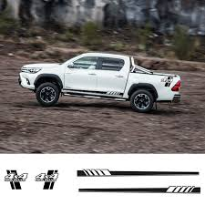 4pcs Sets Decal Sticker Side Stripes Graphics L Arrow 4x4 Off Road For Toyota Hilux Car Stickers Aliexpress
