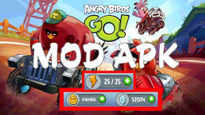 Angry Birds Go v2.9.1 Mod Apk OBB Unlimited Gold