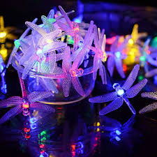 Dragonfly Solar String Lights Outdoor 20 8ft 30 Led Waterproof Solar Powered Fairy Lights 8 Modes Decorative Lights For Patio Garden Yard Fence Wedding Christmas Party Shopee Philippines