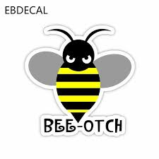 Ebdecal Bee Car Bumper Window Wall Suitcase Decal Sticker Decals Diy Decor Ct30925 Aliexpress