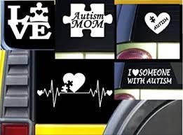 Amazon Com 5 Autism Decals Value Pack M140 Autistic Sticker Car Window Laptop Piece Automotive