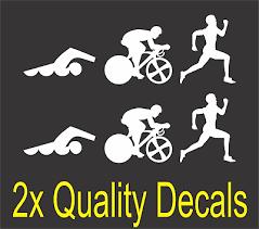 Triathlon Decal Swim Bike Run Bumper Sticker Car Window Ironman Decal