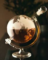 world globe decanter vodka whisky 700ml