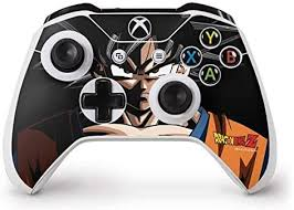 Amazon Com Skinit Decal Gaming Skin Compatible With Xbox One S Controller Officially Licensed Dragon Ball Z Goku Portrait Design Electronics